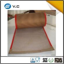 Industry grade EFLON ptfe coating rubber ptfe Buckle conveyor mesh belt