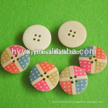 Botão de madeira redonda nova venda quente de Design