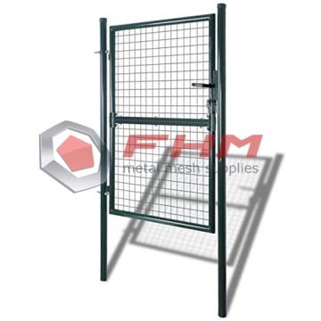 Única porta estável da cerca da porta do pátio do metal da porta
