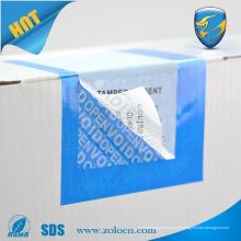 Etiqueta de etiqueta de segurança VOID Tamper Evident personalizada