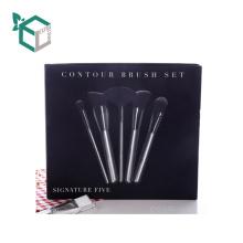 Folding Paper Cosmetic Brush Box Texture Cardboard Lid