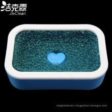 Plastic Soap Box with Mesh Sponge