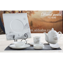 Chinese customized square dining table sets for sale