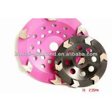 Roda do copo do diamante / disco de moedura com 22.23mm, M14, 5 / 8-11 furo center