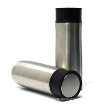 new design double wall insulated vacuum water bottle  stainless steel tumbler with elastic