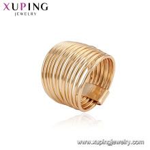 15540 En Gros unique femmes bijoux pas cher prix 18 k plaqué or alliage de cuivre alliage doigt anneau