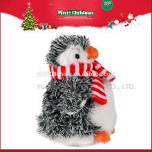 Novos brinquedos para o natal 2016, personalizado de natal pinguim de pelúcia brinquedos animais ICTI Audited