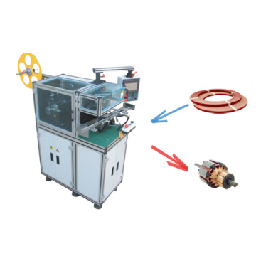 Automatic motor armature paper insertion machine