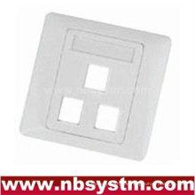 3 Port Face Plate, Größe: 86x86mm