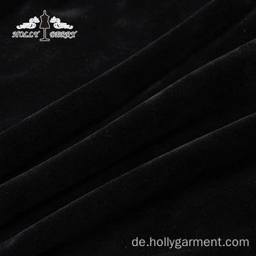 Fleece Kapuze Ungefütterter Velours Anti-Falten Solid Autumn Black Sweatshirt