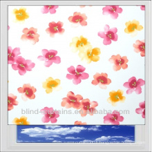 Flower printed roller window blinds/curtain with beautiful design