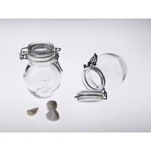 Wholesale klar feuchtigkeitsfestem Glas mit Deckel für Lebensmittel Lagerung