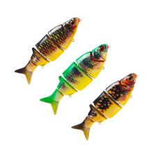 MNL066 proveedor de China al por mayor aparejos de pesca de cinco secciones articuladas señuelo de la pesca del cebo minnow