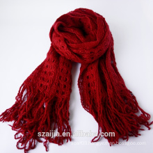 Ladies new design acrylic knitted scarf/shawl