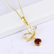 2014 New Design CZ Stone Necklace Fashion Jewelry