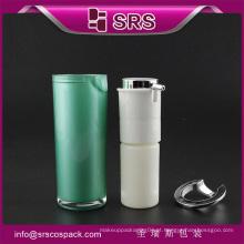 SRS China cosméticos amostras grátis garrafa de bomba sem ar comprimido vazio para soro