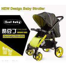 China carrinho de bebê fabricante carrinho de bebê feito sob encomenda rodas traseiras grandes peso leve direção reversível do assento do preço barato