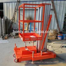 Equipo de elevación móvil Hontylift / escaleras telescópicas / pequeños mecanismos de elevación mecánica