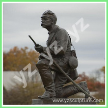 Commemorate Decoration Life Size Bronze Soldier Sculpture