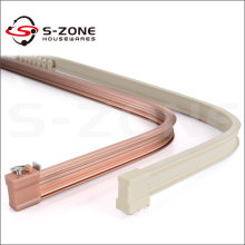 Bay window bendable curtain track