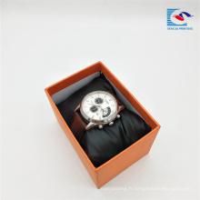 Fournisseurs chinois personnalisé imprimer boîte de papier cadeau en papier couleur pour montre