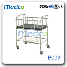 Stainless Steel Movable hospital baby bed B003