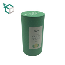 cheap customized sealed recycled coffee kraft paper tube packaging tea boxes