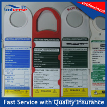 Scaffolding Tag for Constructor Inspection Record