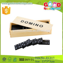 2015 high quality classic wooden domino game set for children