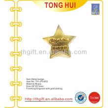 Булавка / значок для визитной карточки с металлической звездой с 3D-дизайном