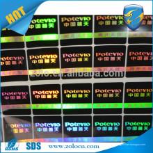 Boa qualidade Shenzhen ZOLO personalizado holograma personalizado adesivos