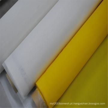 Malha de aparafusamento amarela da impressão da tela do poliéster do monofilamento de pano do supermercado