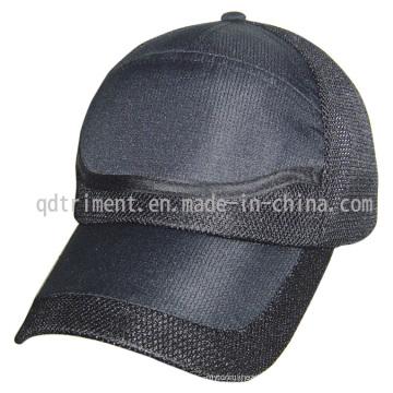 Respirable de microfibra de malla de tela de béisbol Sport Cap (TRNR082)