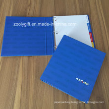 Logo Printing 3 Ring Binder with Index Tabs Dividers File