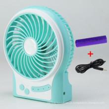 Carregador portátil USB mini ventilador com 3 níveis de velocidade do vento-azul
