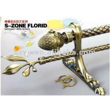 brass rod end retail with window drapery fashion