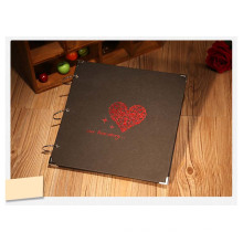 Schwarzes Papier-Dekoration-Einklebebuch für DIY Ausrüstungen 1254