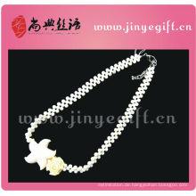 Mode Sommer Schmuck Ozean Stil Weiß Stein Braut Halskette