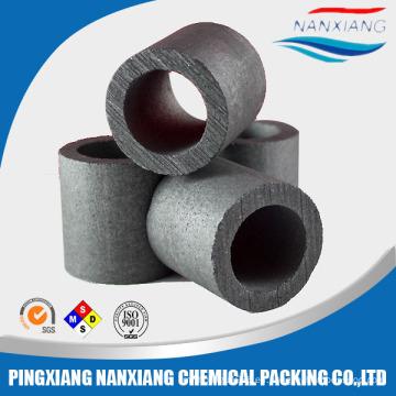 Embalaje de alta calidad de la torre del anillo del raschig del carbono del grafito del carbono