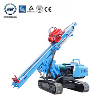Portable pile driver solar piling machine for solar project