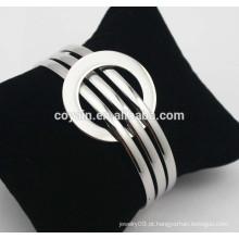 Pulseira de aço inoxidável ajustável pulseira expansível fio expansível