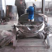 Machine de fusion de chauffage de revenu de chocolat électrique commercial en acier inoxydable 50L-500L avec agitateur