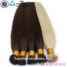 Double Drawn !!! 100% Remy Vollnagelhaut Pre Bonded Hair mongolische ich Spitze Haarverlängerung