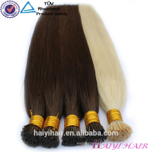 Double Drawn!!!100% Remy Full Cuticle Pre Bonded Hair mongolian i tip hair extension