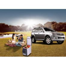 HF-600B (107) DC 12 V AC 220 V portable mini vente chaude voiture et usage domestique cool et chaud double usage voiture réfrigérateur (CE certificat)