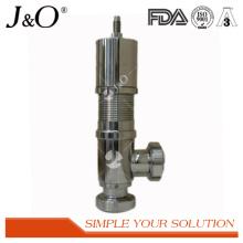 Válvula de alívio de pressão sanitária em aço inoxidável