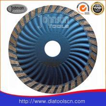 Lame de scie frittée à turbine ondulée de 115 mm pour Granite à coupe rapide