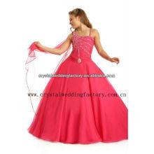 Livraison gratuite en gros une épaule perlée robes robe de balle robe petite fille CWFaf5267