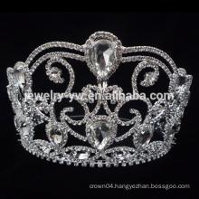 Wholesale 2015 hot sale big pageant flower crowns.pageant crowns for sale