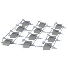Коммерческое применение 1 МВт Солнечной системе плоской крыше солнечные панели крепления